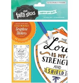 Psalm 28:7 Colorable Stickers Set
