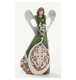 "Roman 7"" Woodcut Irish Angel"