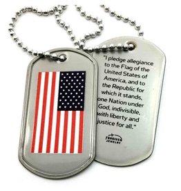 Forgiven, LLC Flag Dog Tag Necklace