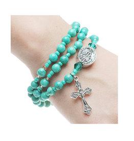 McVan Turquoise Rosary Bracelet