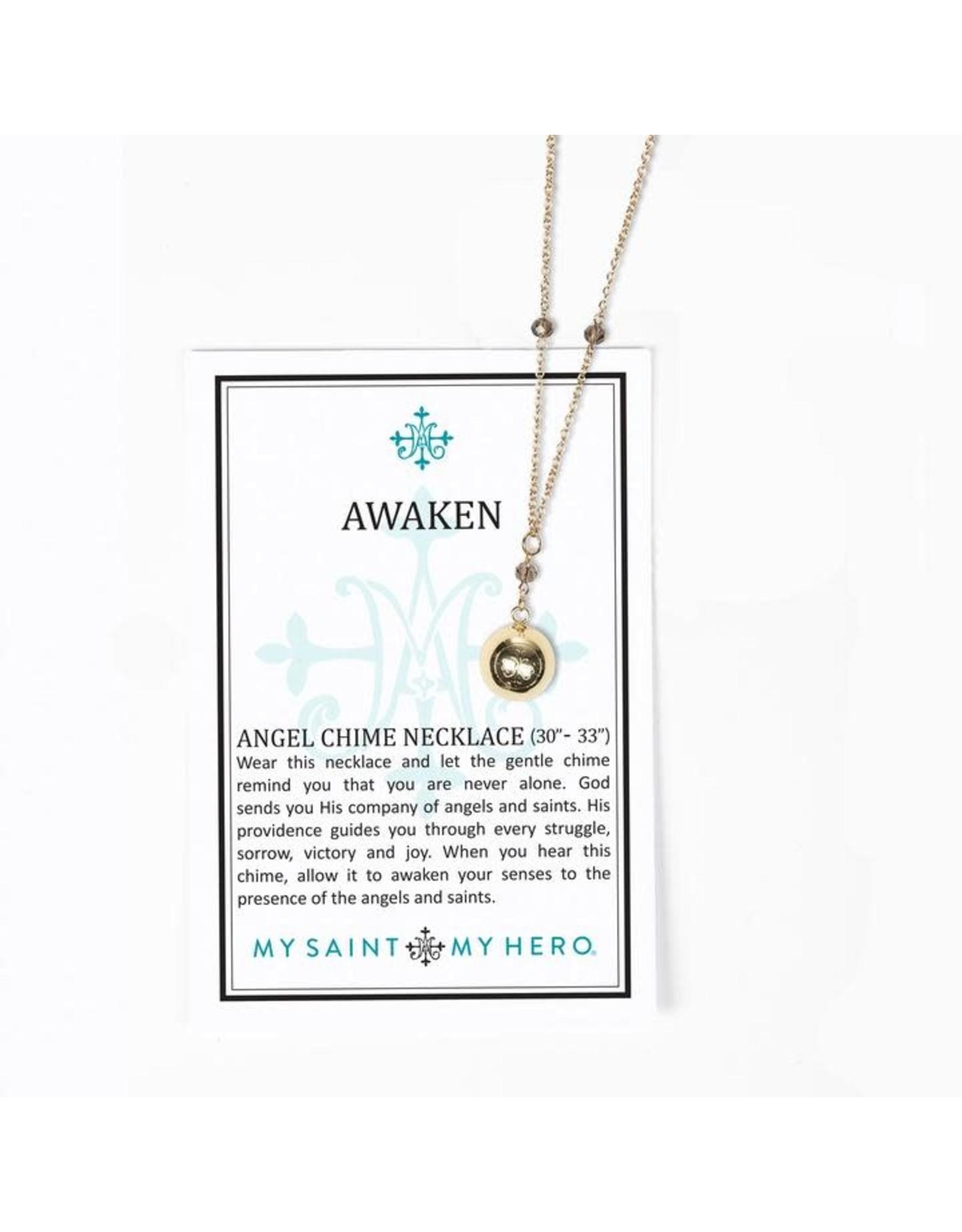 My Saint My Hero Awaken Angel Chime Necklace