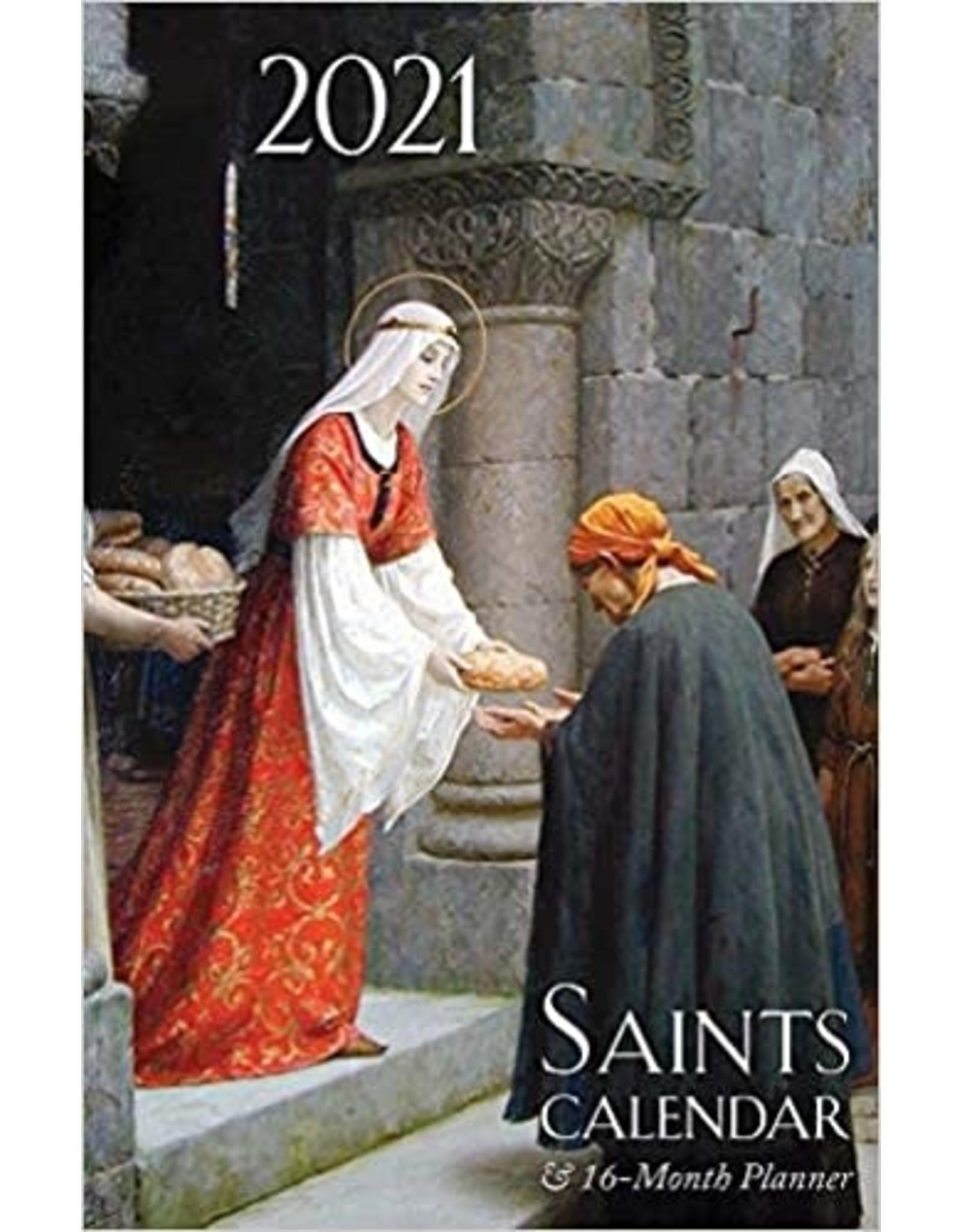 2021 Saints Calendar and Planner: Spiral Bound