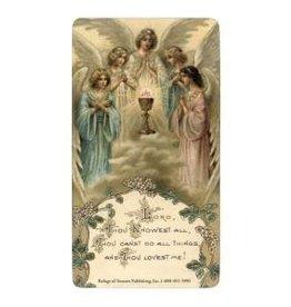 Refuge of Sinners Publishing Act of Spiritual Communion Laminated Holy Card