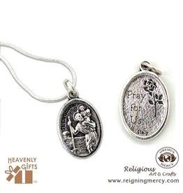 Oremus Mercy Italian Silver Medal (St. Christopher)