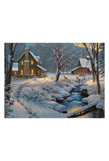 Rivers Edge Products Cabin/Deer LED Art