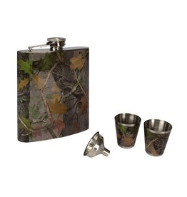 Rivers Edge Products Flask and Shot Set - CB Camo