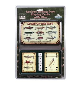 Rivers Edge Products Playing Cards and Dice in Tin  - Lures of the Past