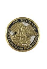 Thin Blue Line USA Challenge Coin - Saint Michael