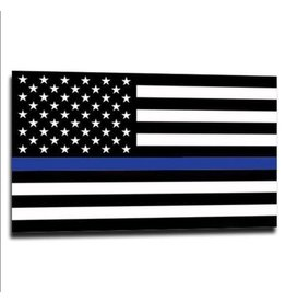 "Thin Blue Line USA Thin Blue Line American Flag Sticker, 2.5""x 4.5"""