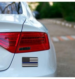 "Thin Blue Line USA Thin Blue Line American Flag Sticker, 4""x6"""
