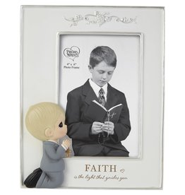 Precious Moments First Communion Faith Is The Light That Guides You Boy Photo Frame