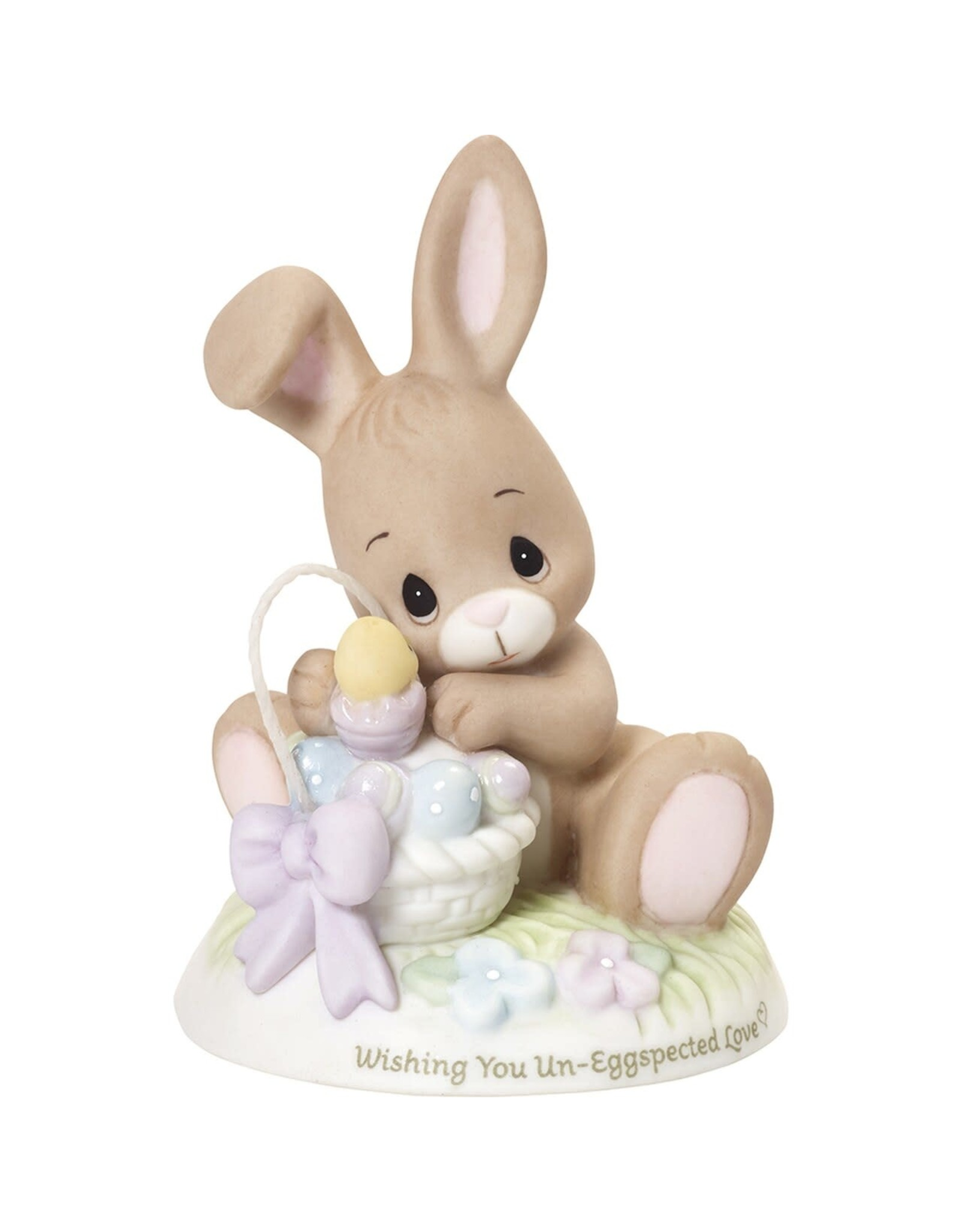 Precious Moments Bunny with Basket Wishing You Un-Eggspected Love Exclusive Figurine