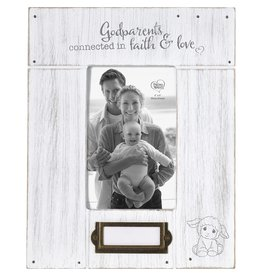 Precious Moments Godparents, Connected In Faith And Love Photo Frame
