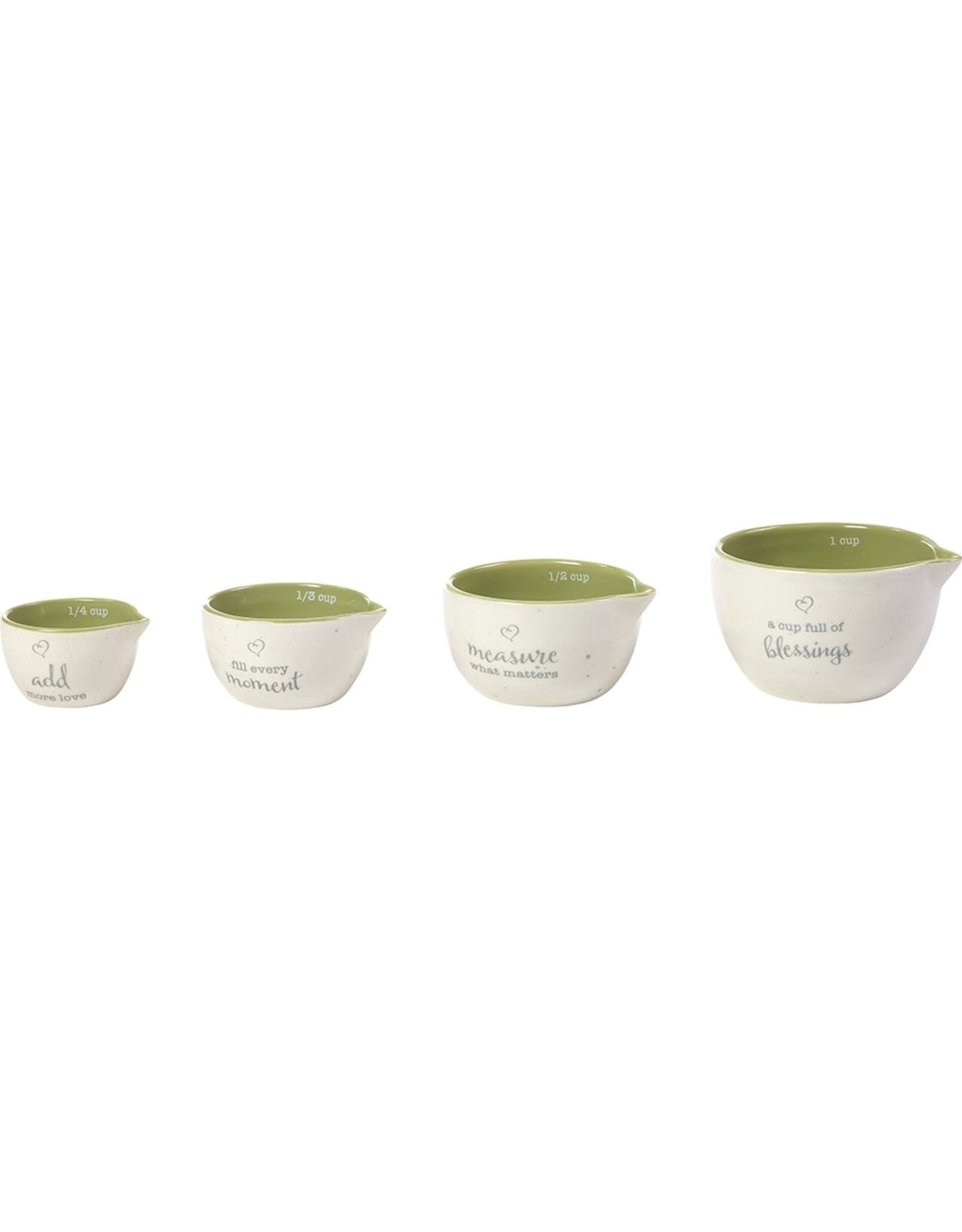 Precious Moments A Cup Full Of Blessings, 4-Piece Ceramic Measuring Cup Set