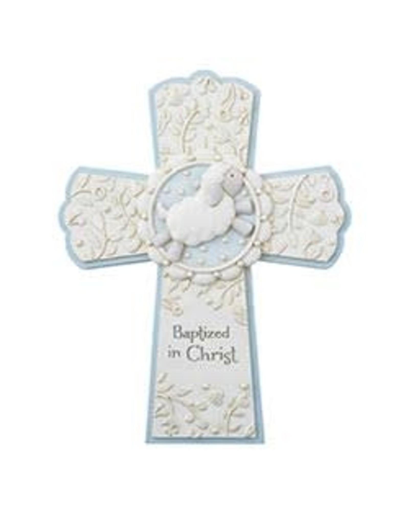 Christian Brands Baptized in Christ Cross Blue