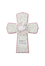 Christian Brands Baptized in Christ Cross Pink