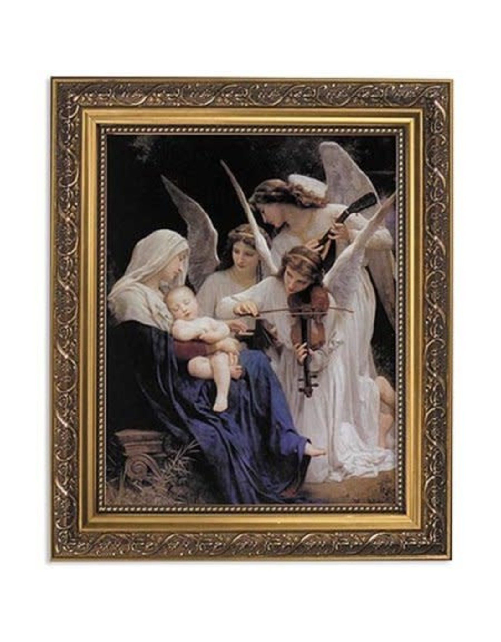 Christian Brands Bouguereau: Song of the Angels Gold Framed Print
