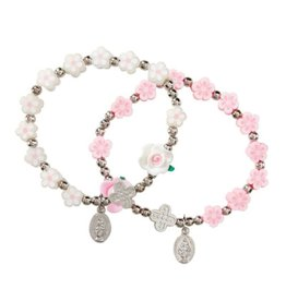 Autom Flower Bead Rosary Bracelet
