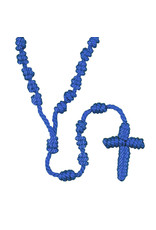 Autom Blue Knotted Cord Rosary