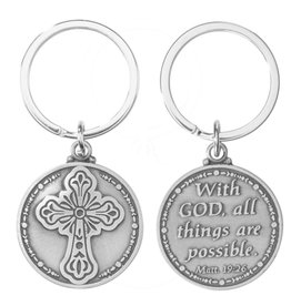 Autom With God All Things are Possible (Matthew 19:26) Key Chain