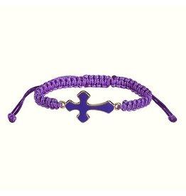 Faithworks Enamel Cross/Braid Cord Bracelet