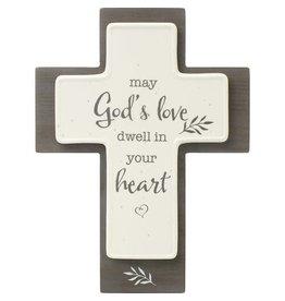 Precious Moments God's Love Cross, Ceramic/Wood
