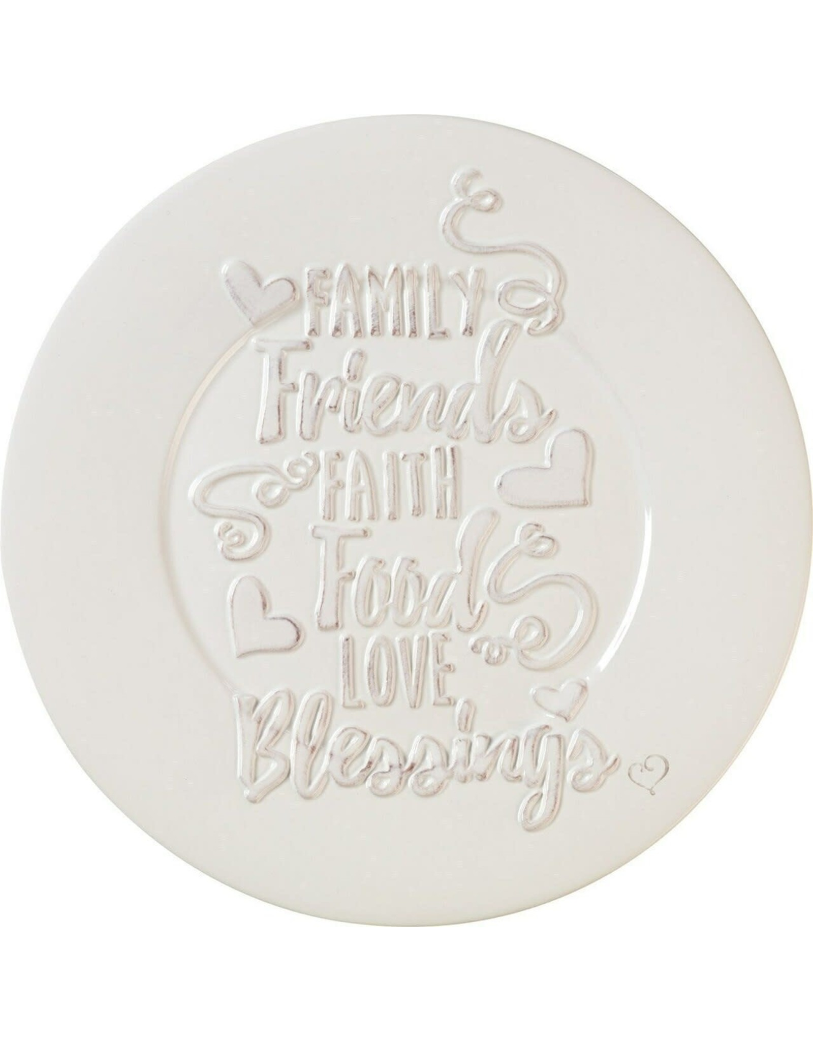 Precious Moments 10 in Bountiful Blessings Family Friends Faith Food Love Blessings Ceramic Plate
