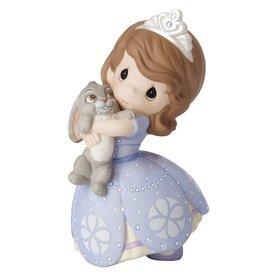 Precious Moments Disney Sophia There's No Bunny Like You! Bisque Porcelain Figurine