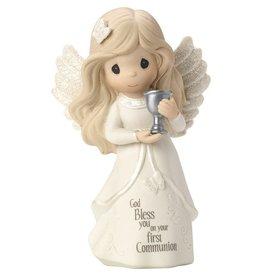 Precious Moments Communion Angel Bisque Porcelain Figurine