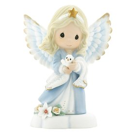 Precious Moments In The Radiance Of Heaven's Light Bisque Porcelain Figurine