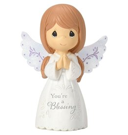 Precious Moments You're A Blessing Mini Angel with Praying Hands Figurine