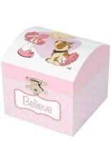Precious Moments Believe Ballerina Musical Jewelry Box
