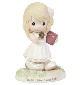 Precious Moments Confirmation Girl Holding Compass He Will Direct Your Path Figurine