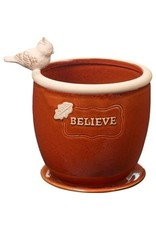 Precious Moments Believe, Small Ceramic Planter