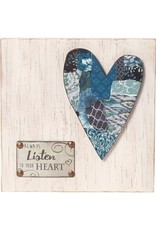 Precious Moments Always Listen To Your Heart, Wall Plaque, Wood/Metal