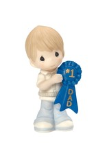 Precious Moments #1 Dad Bisque Porcelain Figurine, Boy