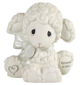 Precious Moments Luffie Lamb Renewed In Him Figurine