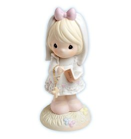 Precious Moments This Day Has Been Made In Heaven, Bisque Porcelain Communion Girl Figurine