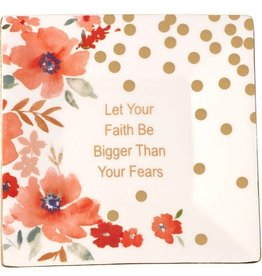Precious Moments Let Your Faith Be Bigger Than Your Fears, Trinket Tray, Ceramic