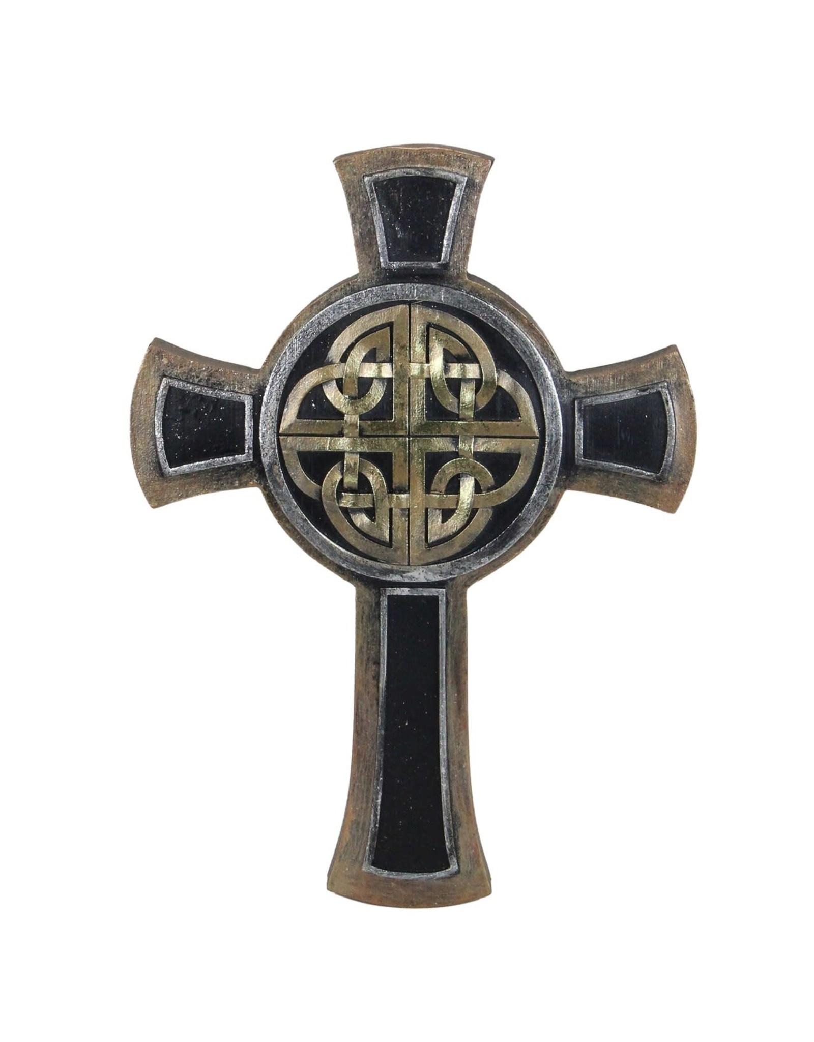 "Roman Bronze Celtic Cross, 9.25"""