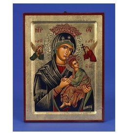 """Lumen Mundi Our Lady of Perpetual Help Hand Painted Icon Made in Greece,5.5"""" x 7"""" x 1"""""""