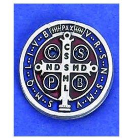 Lumen Mundi St. Benedict Enamel Medal Lapel Pin Made in Italy