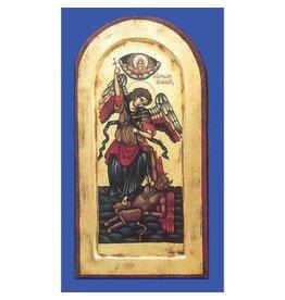 Lumen Mundi St. Michael Hand Painted Gold Icon