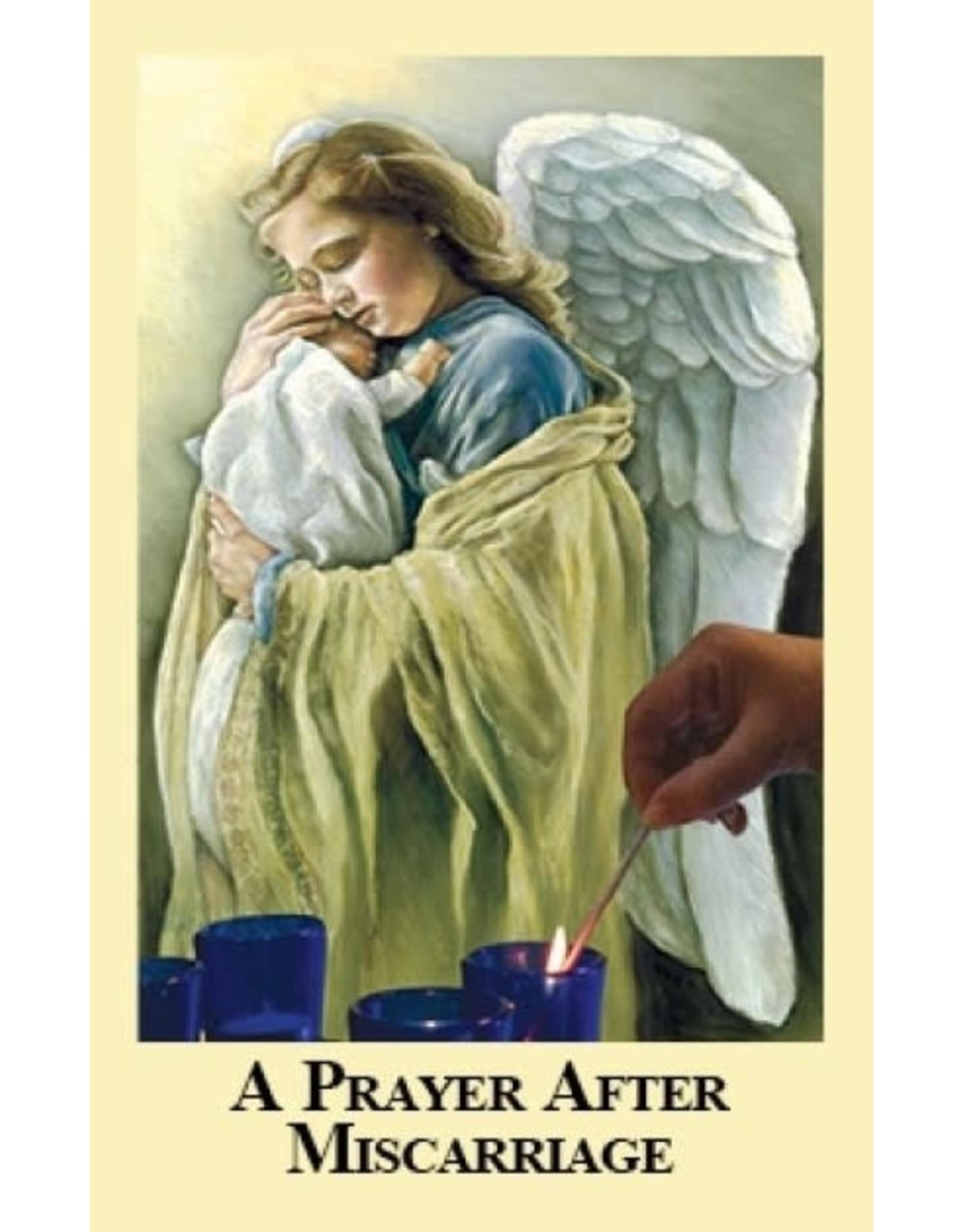 Association of Marian Helpers A Prayer After Miscarriage (Prayer Card)