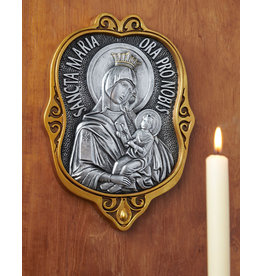Monastery Icons Byzantine Style Wall Icon - Sancta Maria