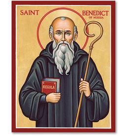 """Monastery Icons St. Benedict of Nursia Icon, 8""""x10"""""""