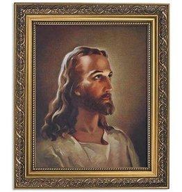 CBC Sallman: Head of Christ Series Print in Ornate Gold Finish Frame