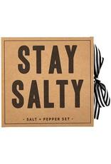 Santa Barbara Designs Cardboard Book Gift Set, 2-Piece, Salt + Pepper Mill