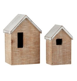 Heartfelt - Made with Love Blank Wooden House with LED Tealight - Large