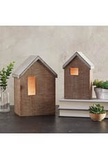 Heartfelt - Made with Love Blank Wooden House with LED Tealight - Small